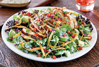 Santa-Fe-Chicken-Salad(White-Strips)-Round-Plate