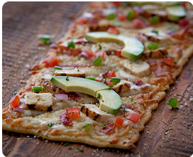california grilled chicken flatbread